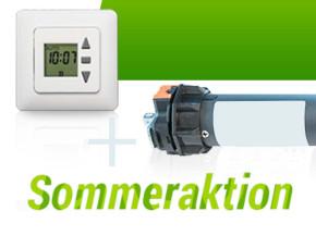 Sommeraktion Rohrmotor und Zeitschaltuhr